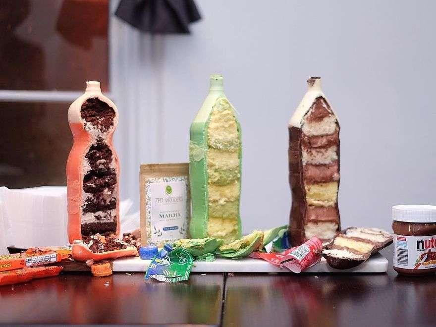 torte bottiglie cake design