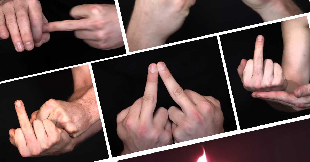 50 modi per fare il dito medio
