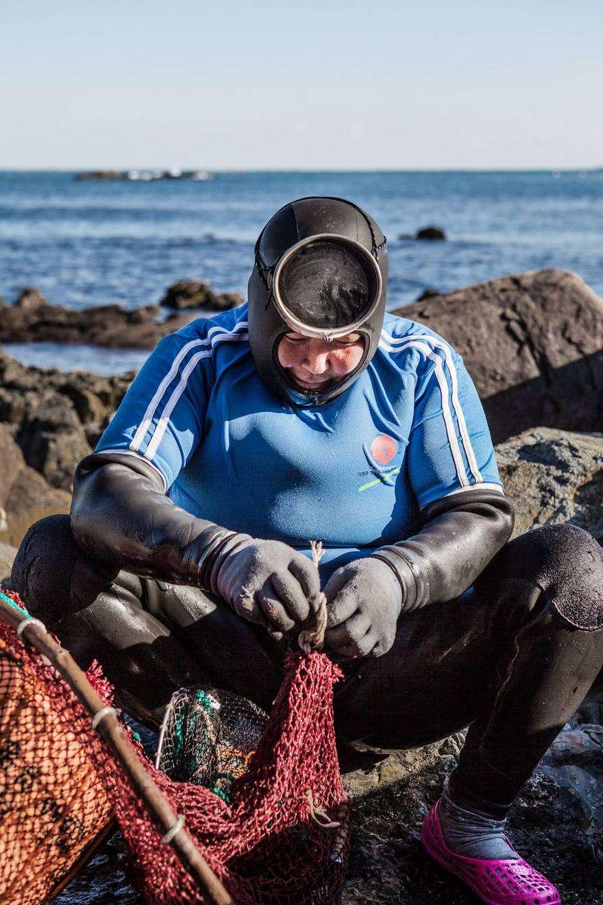 donne anziane pesca apnea