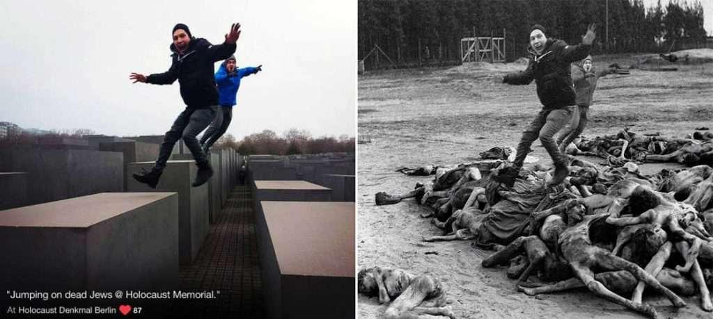 selfie olocausto fotoritocchi
