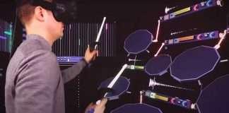 suonare con visore realtà virtuale