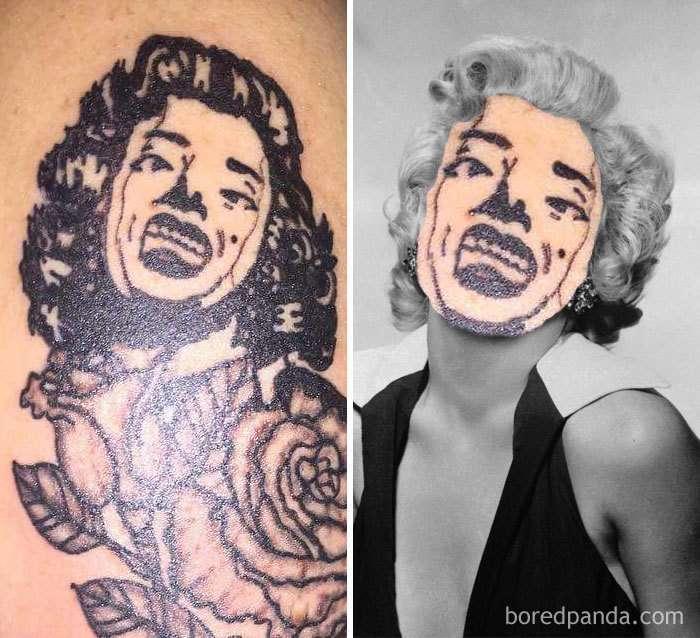 Tatuaggi brutti usati per creare fotoritocchi cattivissimi