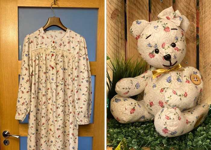 Vestiti di persone defunte trasformati in orsacchiotti. Ecco le creazioni di Mary Macinnes