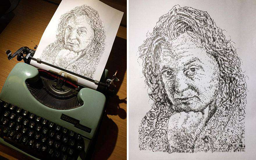 disegni macchina da scrivere
