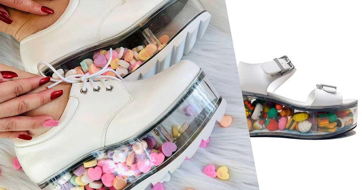 scarpe con suola da riempire