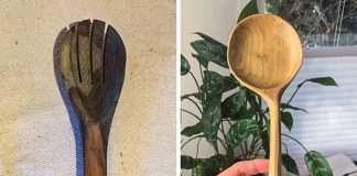 trucco olio di cocco mestoli legno