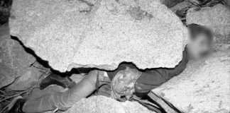 uomo schiacciato da masso mentre sevizia gallina