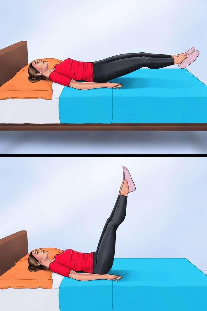 esercizi a letto con lo smartphone